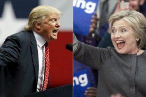 نتائج الإستطلاعات تظهر تقاربا بين كل من ترامب وكلينتون