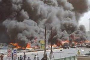 مقتل سبعة أشخاص وجرح آخرين بعد تفجير سوق شمالي بغداد