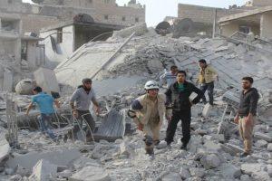 قتلى وجرحى جراء قصف روسي سوري في أماكن مختلفة من سوريا