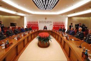 بحث إعادة هيكلة الجيش التركي من طرف مجلس الشورى العسكري الأعلى