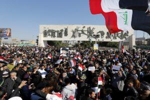 مظاهرات في بغداد تنديدا بالفساد بقيادة مقتدى الصدر
