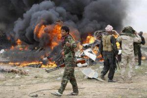 قتلى من الحشد الشعبي جراء إنفجار سيارات مفخخة في شمال شرق الرمادي و