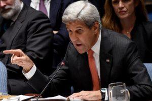 سوريا : جون كيري يتهم روسيا والنظام السوري بعدم الإلتزام بالهدنة
