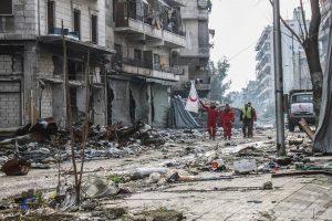 سوريا : القوات النظامية تشن غارات مكثفة على محطة مياه سليمان الحلبي