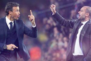 لويس إنريكي يشيد ببيب جوارديولا قبل مباراة القمة بين برشلونة والسيتي