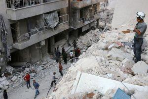 قتلى وجرحى في حلب والسفارة الروسية في دمشق تتعرض للقصف
