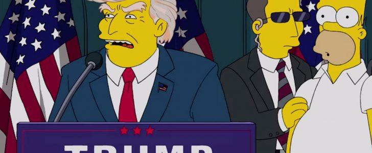 ترامب وسيمبسون : حلقة تحدث عن وصول ترامب للسلطة قبل 16 عاما !
