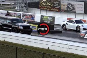 تفاصيل حماسية عن سباق سيارة جيب SRT8 الأمريكية المعدلة وسيارة بورش 911 الأمريكية