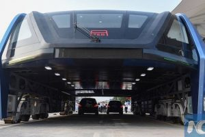 مشروع الحافلة الممددة الذي قامت بة إحدى الشركات الصينية وفشل تتخلى عنة الأن وتعلن الرحيل
