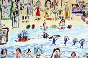 أطفال أتوبيس الفن الجميل يبدعون في الدورة الخامسة لمسابقة لون بالصور