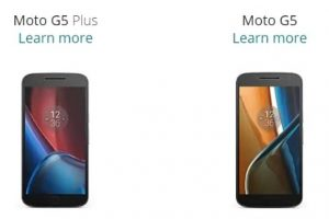معلومات وتسريبات هامة عن هاتفيّ Moto G5 Plus و Moto G5 وظهور بعض مواصفاتهما