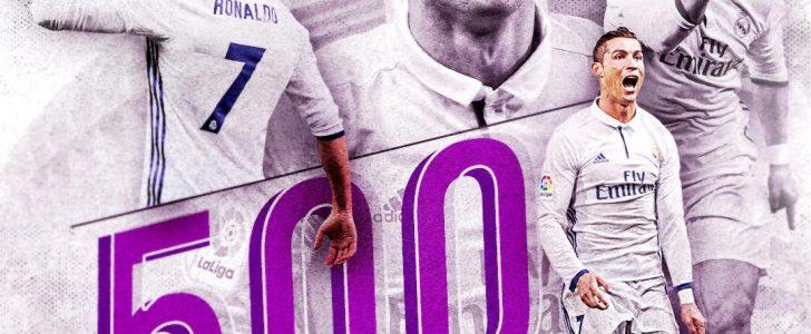 كريستيانو رونالدو يحرز الهدف رقم 500 على مستوى الأندية