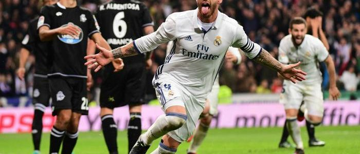 راموس يواصل هوايته المفضلة ويُنقذ ريال مدريد من فخ ديبورتيفو لاكورونا
