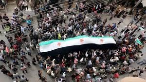 اخبار سوريا اليوم : مظاهرات في حمص تنديداً بالمجازر في حلب تباد اليوم الان