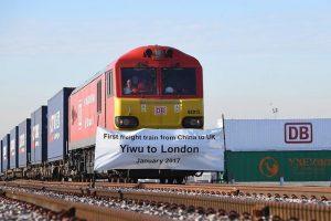 أول قطار للبضائع يوصل الصين بالمملكة المتحدة يصل الى وجهته الأخيرة لندن