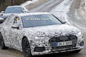 للمرة الأولى شركة أودي تقوم بإختبار سيارتها الجديدة A6 مع التمويهات المكثفة بالصور