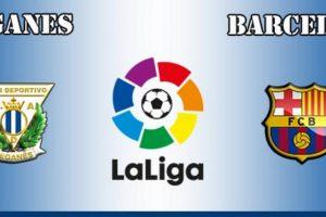 فوز برشلونة على ليغانيس بصعوبة في الاسبوع الثالث والعشرين بالدقائق الأخيرة من ضربة جزاء حصل عليها نيمار
