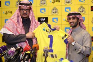 بالصور نادي النصر السعودي يعلن على ان سيارة النادي الرسمية ستكون انفينيتي