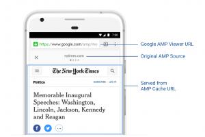 اتاحة خاصية الصفحات المسرعة AMP على الهواتف الذكية من قبل جوجل