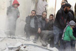 دير الزور يتعرض لغارات روسية بالتزامنمع غارات للنظام السوري على حمص ودمشق