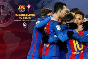 نتيجة مباراة برشلونة وسيلتا فيغو اليوم بالدوري الاسباني 2017 وتألق البرشا بخماسية نظيفة تضمن استمرارة بالصدارة المؤقته