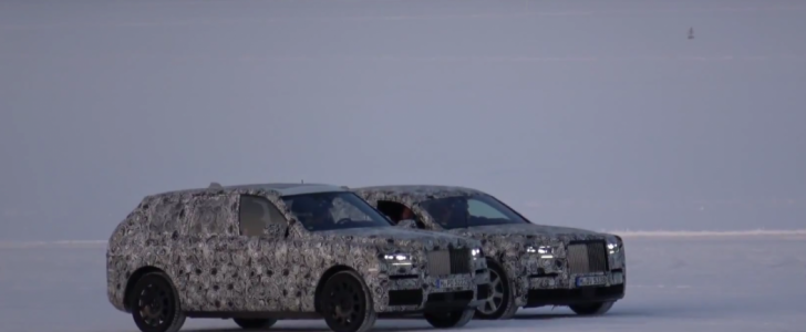 تفاصيل عن اختبارات رولز رويس لسيارة كولينان وبديلة فانتوم جنباً لجنب