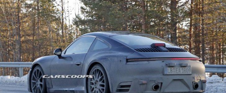 صور تجسسية جديدة لسيارة بورش 911 أثناء إختبارها