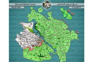القوات العراقية تسيطر على إثني عشر حيا بالشطر الغربي لمدينة الموصل