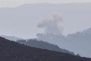 المعارضة السورية المسلحة تسقط مروحية تابعة لقوات الأسد في ريف اللاذقية