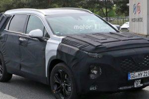 أحدث المعلومات والصور التجسسية لسيارة هيونداي سانتافي الجديدة