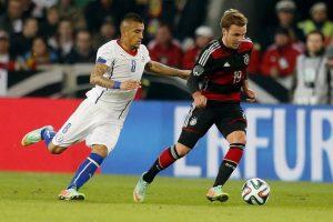 اهداف مباراة المانيا وتشيلي اليوم في المجموعة B كأس العالم للقاراتوملخص نتيجة اللقاء بالتعادل الإيجابي
