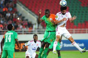 اهدافمباراة الوداد والقطن الكاميروني اليوم على ملعب رومدا ادجيا في الجولة الخامسةوملخص نتيجة اللقاء