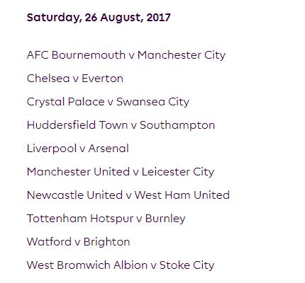 الجولة الثالثة من الدوري الإنجليزي الممتاز 2018