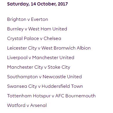 الجولة الثامنة من الدوري الإنجليزي الممتاز 2018