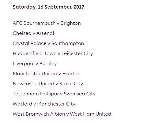 الجولة الخامسة من الدوري الإنجليزي الممتاز 2018