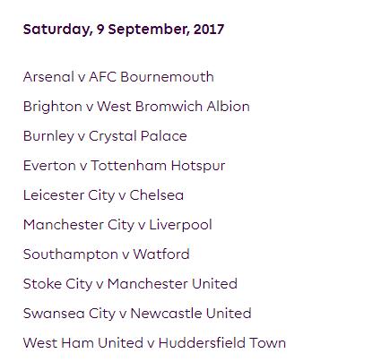 الجولة الرابعة من الدوري الإنجليزي الممتاز 2018