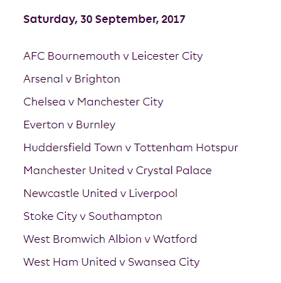 الجولة السابعة من الدوري الإنجليزي الممتاز 2018