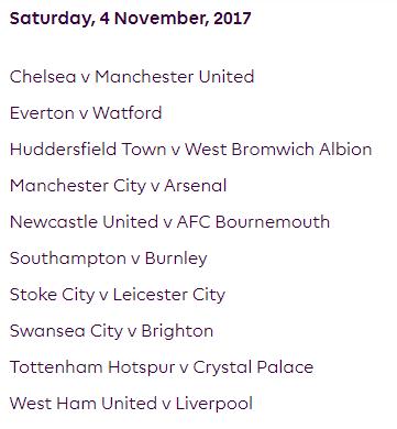 الجولة 11 من الدوري الإنجليزي الممتاز 2018