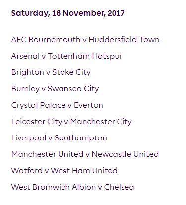 الجولة 12 من الدوري الإنجليزي الممتاز 2018