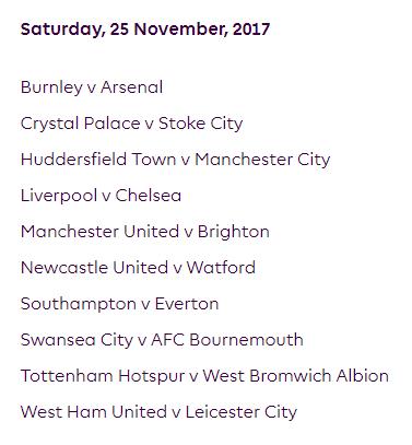 الجولة 13 من الدوري الإنجليزي الممتاز 2018