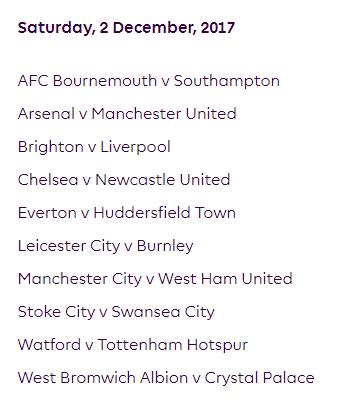 الجولة 15 من الدوري الإنجليزي الممتاز 2018