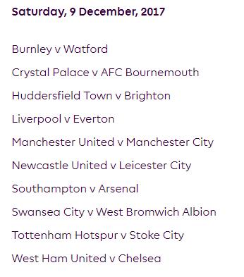 الجولة 16 من الدوري الإنجليزي الممتاز 2018