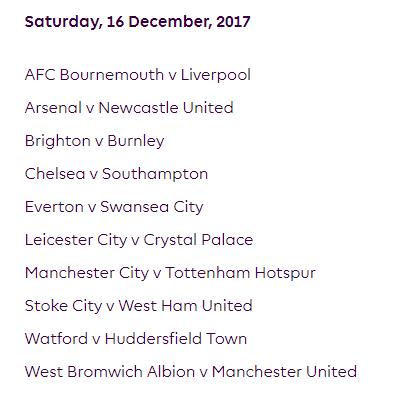 الجولة 18 من الدوري الإنجليزي الممتاز 2018