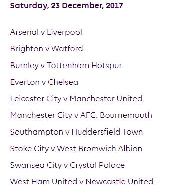 الجولة 19 من الدوري الإنجليزي الممتاز 2018