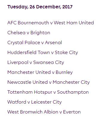 الجولة 20 من الدوري الإنجليزي الممتاز 2018
