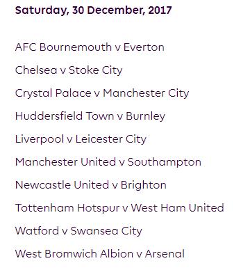 الجولة 21 من الدوري الإنجليزي الممتاز 2018