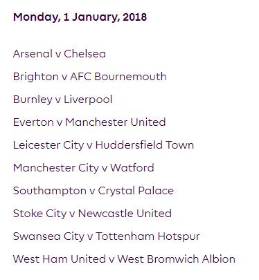 الجولة 22 من الدوري الإنجليزي الممتاز 2018