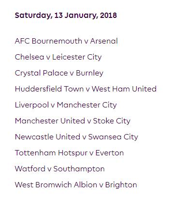الجولة 23 من الدوري الإنجليزي الممتاز 2018