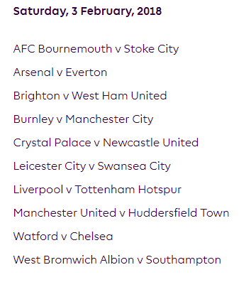 الجولة 26 من الدوري الإنجليزي الممتاز 2018