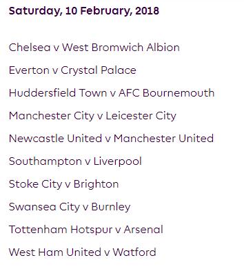 الجولة 27 من الدوري الإنجليزي الممتاز 2018